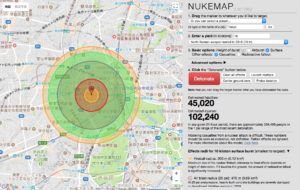今、TOKYOに原爆が落ちたら死傷者数147,260名