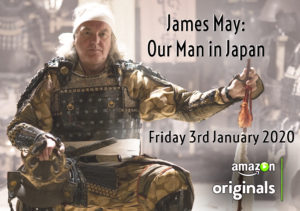 "Amazon Prime's mindblowing ""Our Man in Japan"" – Jan 3, 2020 debut! 'Master' James May says ""Zoo Me-Methane"" (sorry すみません) and bows 45°!"
